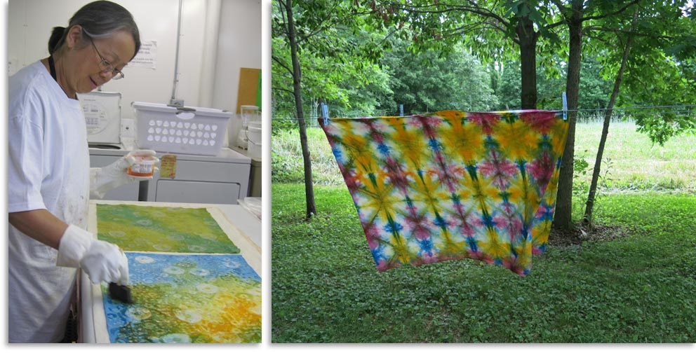 Crow Timber Frame Barn fabric dyeing classes