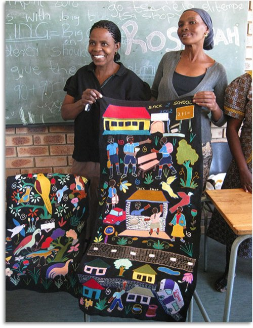 Mapula embroidery project in South Africa